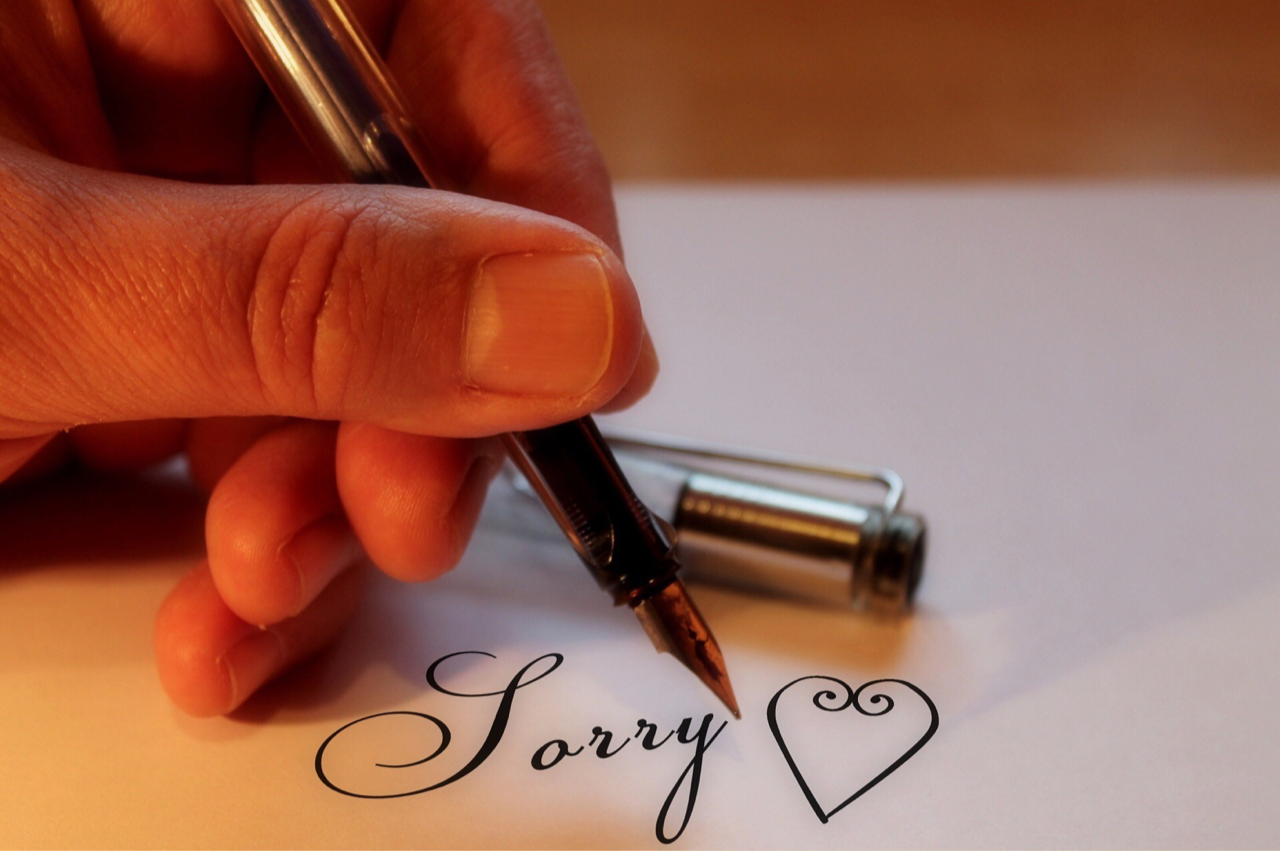 How not to say sorry